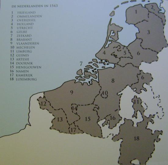 Les Pays Bas en 1543