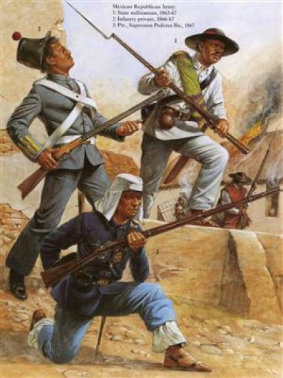 Garde nationale et infanterie mexicaine