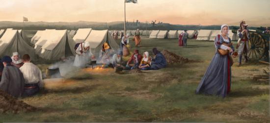 Ninove, tableau de Yannick De Smet, et Sce Archéologique SOLVA